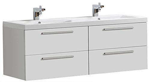Badmöbel-Set R1440 Basic in Weiß (ohne Spiegelschrank)