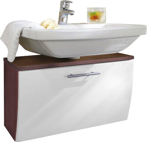 Posseik 5610 91 Waschbeckenunterschrank Santana Walnuss Nachbildung weiß