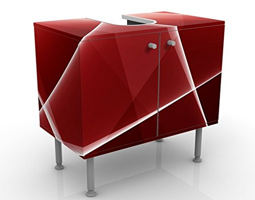 Apalis 54208 Waschbeckenunterschrank Red Reflection, 60 x 55 x 35 cm
