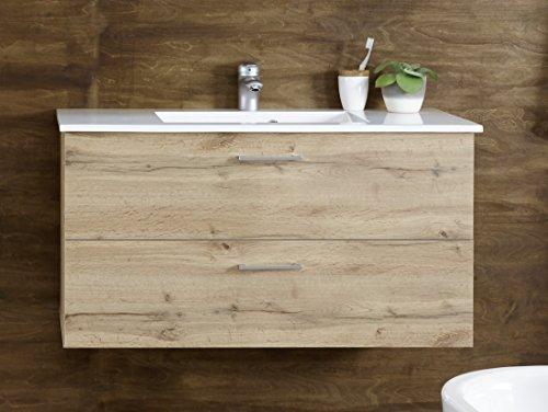 Stella Trading Best Waschbeckenunterschrank inkl. Becken, Holzwerkstoff, B/H/T ca. 99 x 53 x 45 cm (Maß